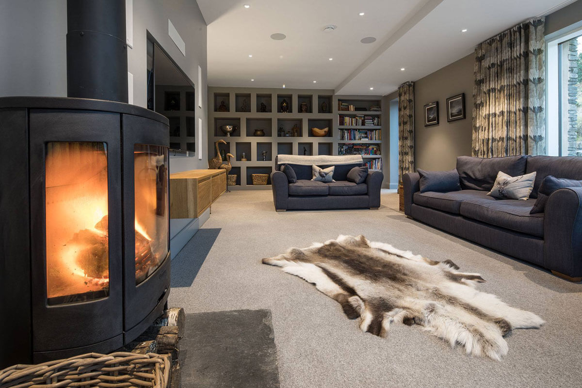 Bespoke Lake District Project living room alternate view